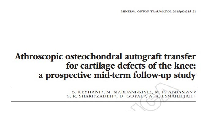 Athroscopic osteochondral autograft transfer for cartilage defects of the knee, a prospective mid-term follow-up study