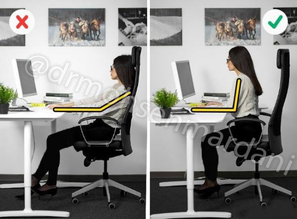 صحیح نشستن روی صندلی محل کار
