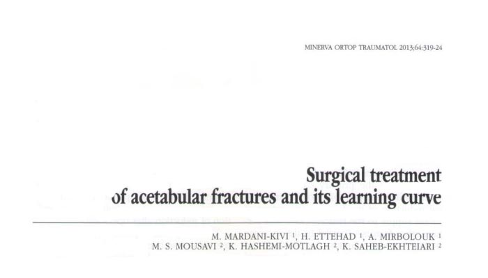 Surgical treatment of acetabular fractures and its learning curve