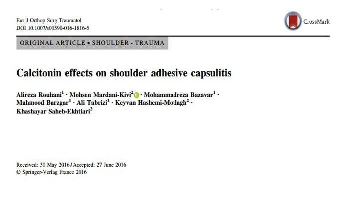 Calcitonin effects on shoulder adhesive capsulitis